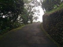 Väg i berg i Grecia, Costa Rica Royaltyfri Bild