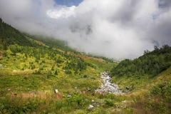 Väg i bergen Arkivfoton