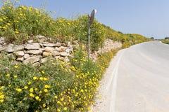 Väg i Gozo, Malta Royaltyfria Bilder