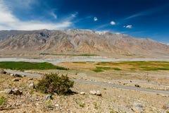 Väg i Himalayas Fotografering för Bildbyråer