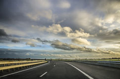 Väg i Holland Arkivfoton