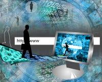 Väg i internet stock illustrationer
