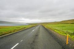 Väg i Island Royaltyfria Bilder