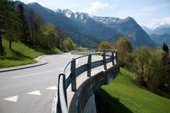 Väg i Lichtenstein Royaltyfri Bild