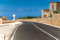 Väg i Malta Arkivbild