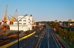 Väg i port Royaltyfria Foton