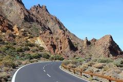Väg i Tenerife Arkivbild