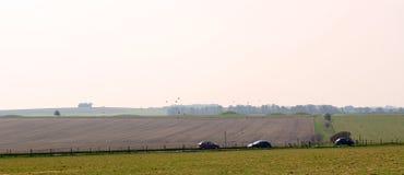 Väg i Wiltshire UK Arkivfoton