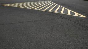 Väg inget parkeringsområde Royaltyfri Foto