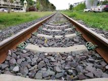 Väg järnväg provinsiellt trans.system - huvudstad arkivfoto