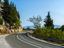 Väg - Makarska Riviera Royaltyfria Bilder