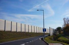 Väg med barriären Royaltyfria Bilder