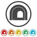Väg med tunnelsymbolen, 6 inklusive färger Royaltyfri Bild
