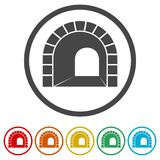 Väg med tunnelsymbolen, 6 inklusive färger Royaltyfria Foton