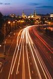 Väg nära MoskvaKreml Royaltyfria Foton