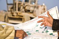 väg-och vattenbyggnadsingenjör Royaltyfri Fotografi