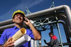 Väg-och vattenbyggnadsingenjör på arbete Royaltyfri Fotografi