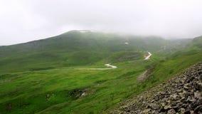Väg på berg Fotografering för Bildbyråer