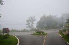 Väg på berget till Pai på Mae Hong Son Thailand Royaltyfria Foton