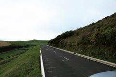Väg på den Graciosal ön, Azores Fotografering för Bildbyråer