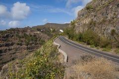 Väg på La Gomera Arkivbild