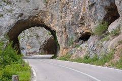 Väg - Piva kanjon Royaltyfri Foto