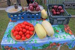 Väg-sida grönsakställning Royaltyfria Bilder