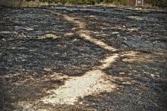 Väg som bränner Arkivbilder