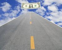 Väg som gör pengar Royaltyfria Foton