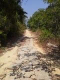 Väg som ska sättas på land på PaRamön, Thailand Arkivbild