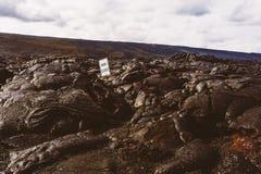 Väg som stängs av vulkan Royaltyfri Fotografi
