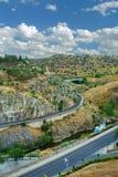 Väg Stad Toledo, Spanien Fotografering för Bildbyråer