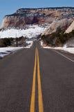 väg straight Fotografering för Bildbyråer
