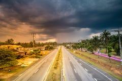väg thailand Arkivbild