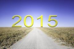 Väg till 2015 Royaltyfria Foton