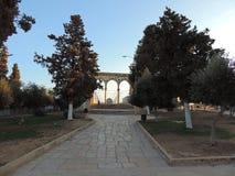 Väg till al-Aqsamoskén, Jerusalem Arkivbilder
