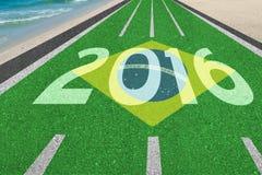 Väg till Brasilien 2016 Arkivbild