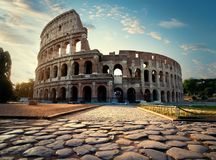 Väg till Colosseum Royaltyfria Foton