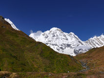 Väg till den Annapurna basläger Arkivbild
