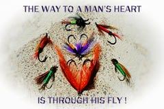 Väg till en mans hjärta vektor illustrationer