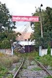 Väg till förrådsplatsen Royaltyfri Foto