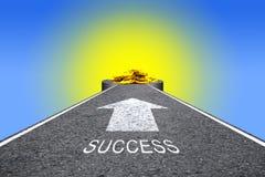 Väg till framgång Arkivbild