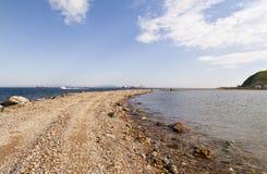 Väg till havet arkivfoto