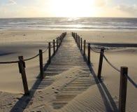 Väg till havet in mot solen Arkivbild