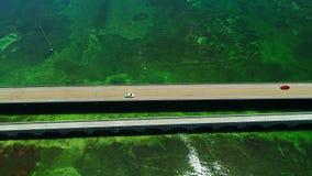 Väg till Key West över hav och öar, Florida tangenter, USA stock video