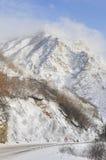 Väg till och med berg Arkivbild