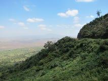 Väg till Rift Valley Arkivbilder