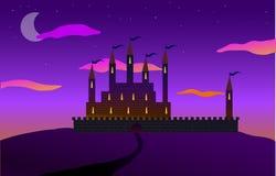 Väg till slotten på kullen Arkivfoton