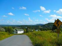 Väg till St John från Cupers liten vik, Newfoundland Royaltyfri Bild