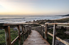 Väg till stranden Arkivfoto